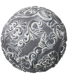 "Статуэтка ""Шар серый узор"" диаметр 10 см"