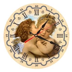 """Часы настенные """"Влюбленные ангелки"""""""