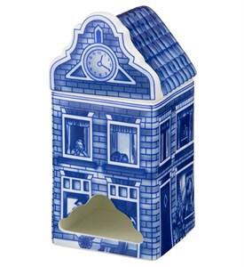"""Шкатулка для чайных пакетиков """"Домик"""" синий"""