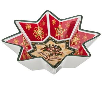 """Салатник """"Новогодние бубенцы"""" 17х17 см в подарочной упаковке"""