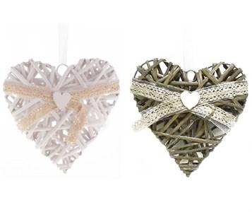 """Подвесное украшение """"Сердце"""" 20х20 см, цена за штуку"""