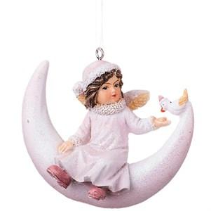 "Елочная игрушка ""Ангелок на месяце"""