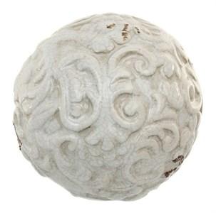 Шар керамический с узором белый