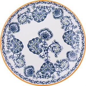 """Тарелка """"Голубые цветы"""" диаметр 22 см"""
