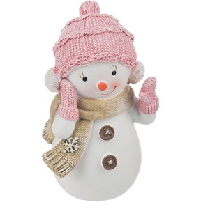 "Статуэтка ""Снеговик розовый"" #1"