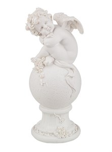"""Статуэтка """"Задумчивый ангел на шаре"""""""