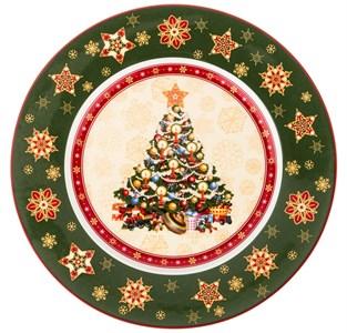 """Блюдо """"Новогоднее"""" диаметр 26 см в подарочной упаковке"""