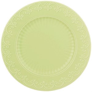 "Тарелка ""Кружево"" диаметр 22 см мятная"