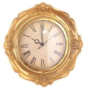 "Часы настенные ""Винтажные"" золотые"