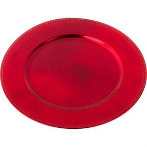 Поднос пластиковый красный