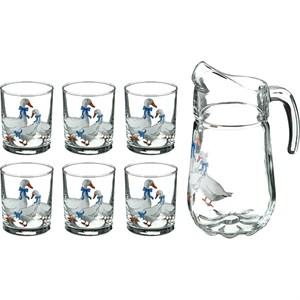 "Набор ""Гусиное семейство"" из графина 1800 мл и стаканов 225 мл"