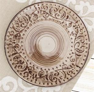 "Тарелка ""Италия"" диаметр 21 см коричневая"