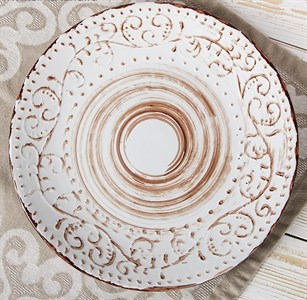 "Тарелка ""Италия"" диаметр 29 см молочная"