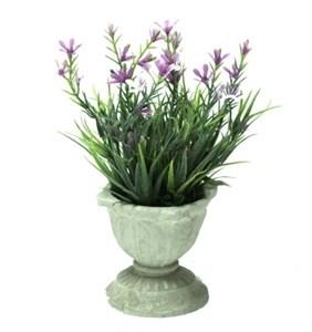 Искусственный цветок в кашпо высота 17 см