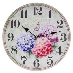 "Часы настенные ""Букет гортензий"" 34х34 см"