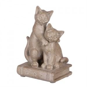 """Статуэтка """"Кошки на книге 9х6,5х13"""