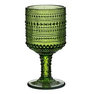 """Бокал """"Капли"""" зеленый 300 мл из цветного стекла"""