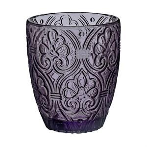 """Стакан  """"Вензеля"""" фиолетовый 320 мл из цветного стекла"""