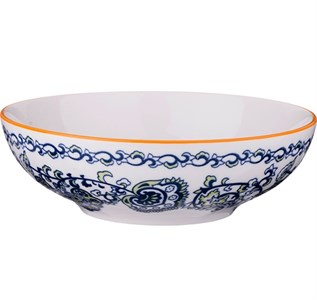 """Миска """"Голубые цветы"""" диаметр 18 см"""