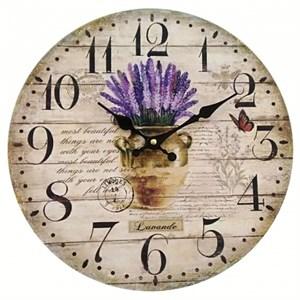 """Часы настенные """"Лаванда в вазоне"""""""