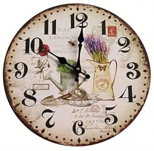 """Часы настенные """"Натюрморт с лавандой"""""""