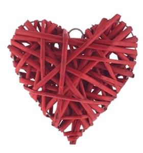 Сердце пплетенное красное 15х15 см