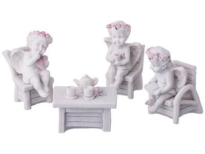 """Набор статуэток """"Чаепитие ангелов"""""""