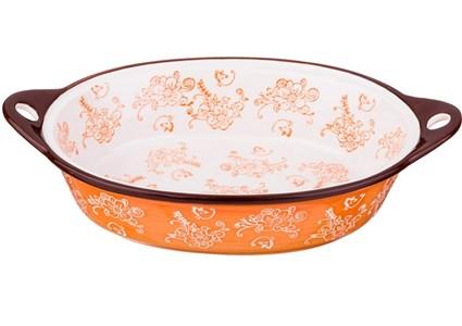 Блюдо для запекания оранжевое 33х22 см