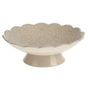 Конфетница керамическая молочная диаметр 25,5 см