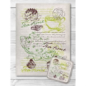 """Набор """"Время для чая"""" из полотенца 45х60 см и прихватки"""