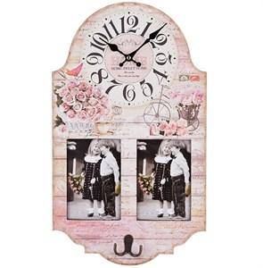 Часы настенные c фоторамками для фотографий 10х15 см