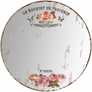 """Зеркало настенное """"Розы Парижа"""" состаренное 60х60 см"""