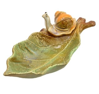 Блюдце керамическое с улиткой