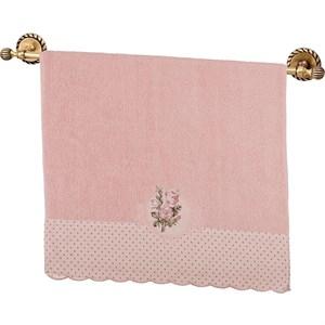 """Полотенце """"Розочки"""" 50х90 см розовое, хлопок"""
