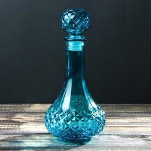 Графин стеклянный 530 мл синий
