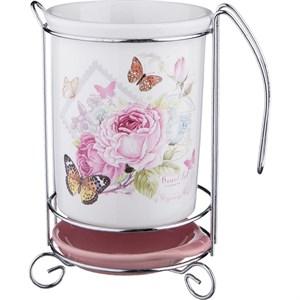 """Подставка под кухонные приборы """"Бабочки и цветы"""""""