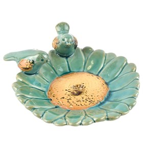Блюдце керамическое с птицами