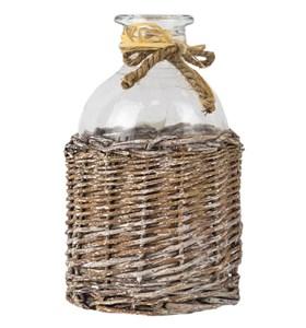 Бутылка в плетенной корзине высота 17,5 см