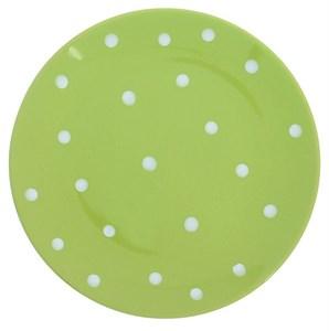 """Тарелка """"Горох"""" зеленая диаметр 19 см"""