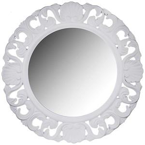 Зеркало резное белое 49х49 см