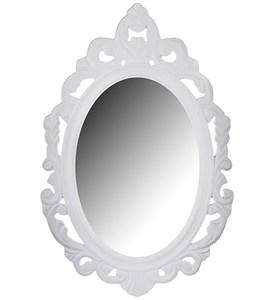 Зеркало резное белое 40х60 см