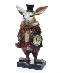 """Часы настольные """"Кролик"""" высота 26,5 см"""