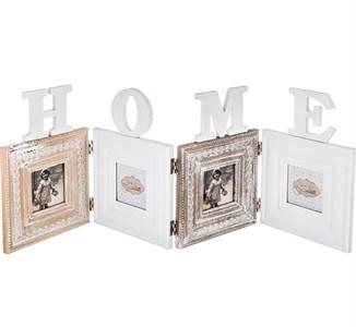 """Фоторамка """"Дом / Home"""" на четыре фотографии 6,5х6,5 см"""