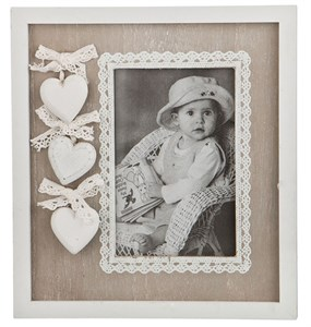 "Фоторамка ""Три сердца"" для фотографии 9х14 см"