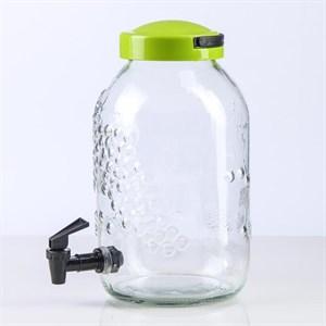 Лимонадник стеклянный 5 л в ассортименте