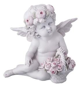 """Статуэтка """"Ангел с корзиной цветов"""""""