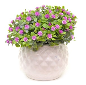 Цветок искусственный в кашпо