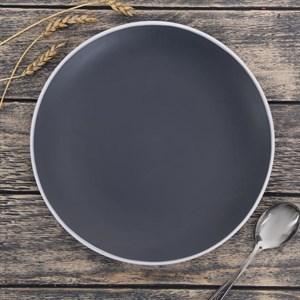 Тарелка керамическая 27 см темная