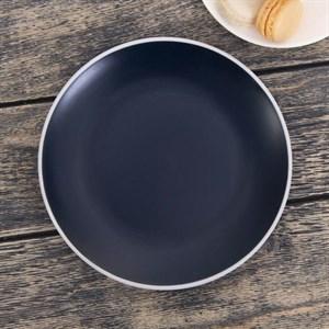 Тарелка керамическая 19 см темная