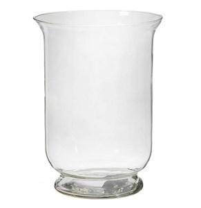 Ваза-подсвечник стеклянный высота 25 см